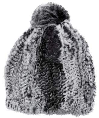 Glamour Puss Glamourpuss Knitted Fur Beanie w/ Tags