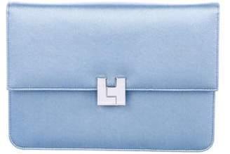 Lambertson Truex Satin Flap Clutch