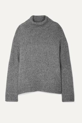 Co Oversized Alpaca And Pima Cotton-blend Turtleneck Sweater - Gray
