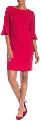 Nine West 3/4 Ruffle Sleeve Sheath Dress
