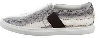Lanvin Python Slip-On Sneakers