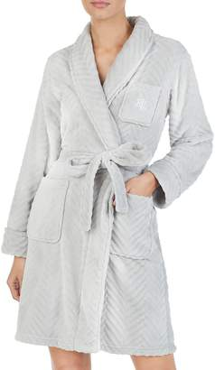 Lauren Ralph Lauren Long-Sleeve Herringbone Robe
