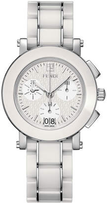 Fendi 6610G Ceramic Chronograph Watch, White