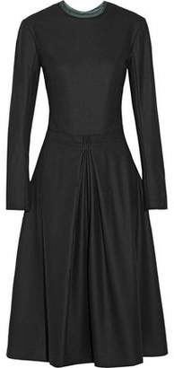 Nina Ricci Pleated Wool-Blend Felt Midi Dress