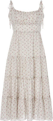 Zimmermann Heathers Ditsy Tiered Floral Poplin Midi Dress
