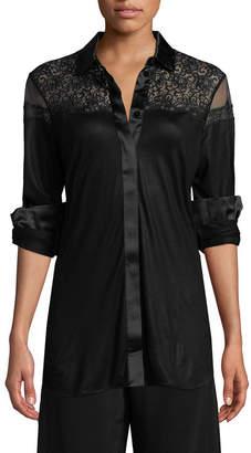 La Perla Button-Front Pajama Top