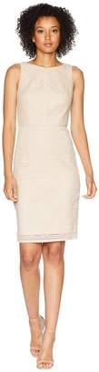 Adrianna Papell Vintage Stripe Lace Sheath Dress Women's Dress