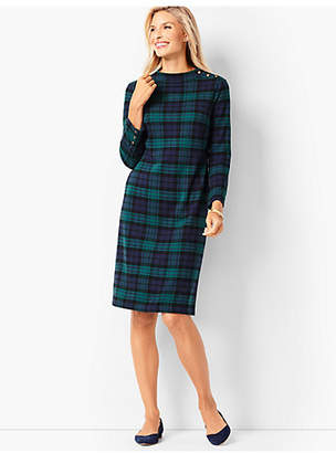 Talbots Black Watch Plaid Shift Dress