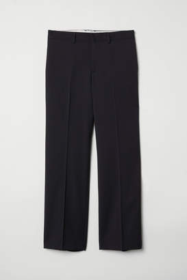 H&M Wool suit trousers Relaxed fit - Black