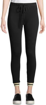 Monrow Skinny-Leg Sporty Drawstring Sweatpants