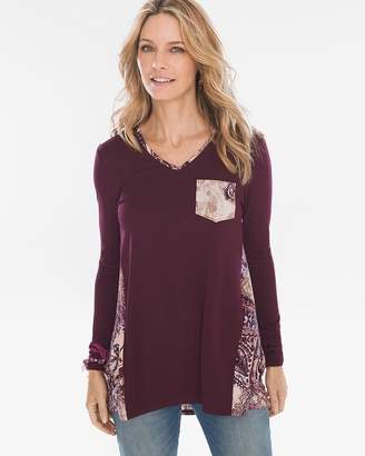 d669fdc7d0 Chico s Chicos Paisley Woven-Back Tunic