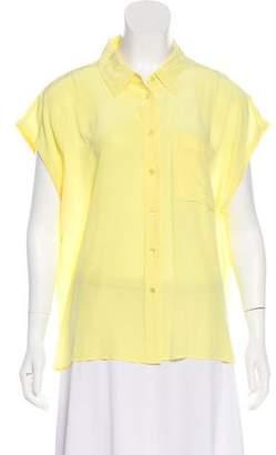 Equipment Short Sleeve Silk Blouse