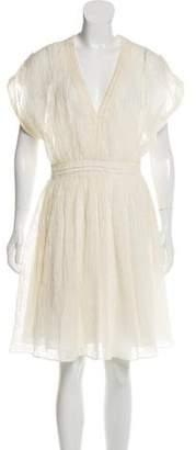 Christian Cota Distressed Knee-Length Dress