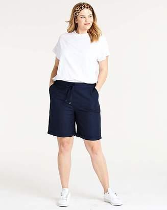 Fashion World Petite Linen Mix Shorts