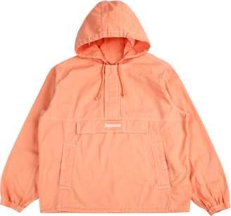Supreme Contrast Stitch Twill Pullover Peach