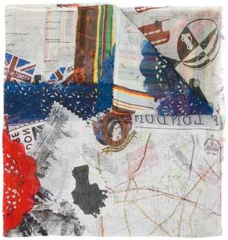 Faliero Sarti London printed scarf