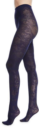 Wolford Rosa Opaque Leaf-Pattern Tights
