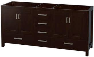 "Wyndham Collection Sheffield 72"" Double Bathroom Vanity Base Only Base"
