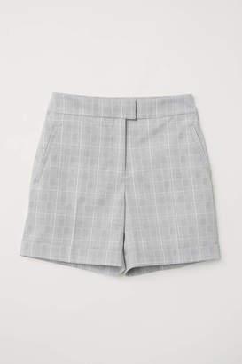H&M Chino Shorts - Light gray/plaid - Women