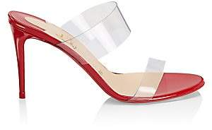 Christian Louboutin Women's Just Nothing 85 Leather & Translucent Mule Sandals