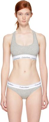 Calvin Klein Underwear Grey Modern Cotton Bralette $30 thestylecure.com