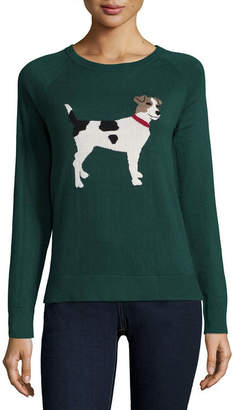 ST. JOHN'S BAY Long Sleeve Crew Neck Pullover Sweater
