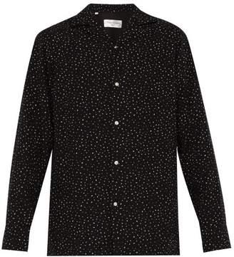 Officine Generale Dario Dot Print Shirt - Mens - Black Multi