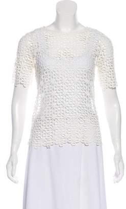 Alexis Crochet Short Sleeve Top w/ Tags