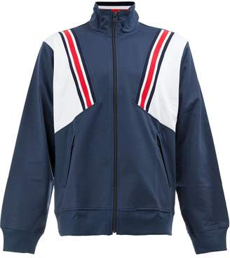 Facetasm stripe detailed windbreaker jacket