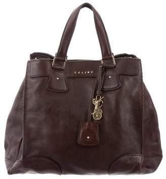 Celine Leather Top Handle Satchel