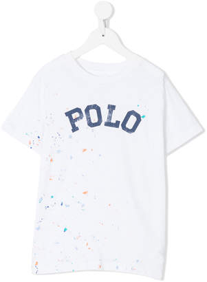 Ralph Lauren splatter-effect printed T-shirt