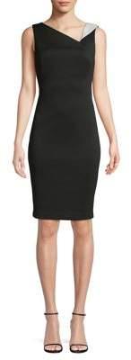 Calvin Klein Sleeveless Crisscross Sheath Dress