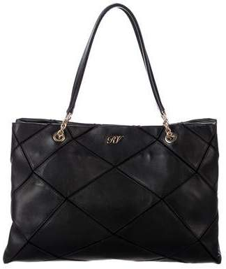 Roger Vivier Prismick Leather Tote