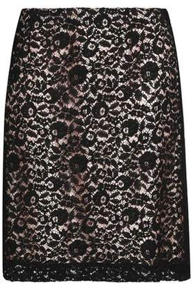 Lanvin Corded Lace Mini Skirt