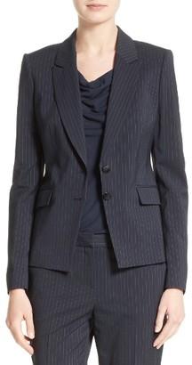 Women's Boss Jakinala Pinstripe Suit Jacket $625 thestylecure.com