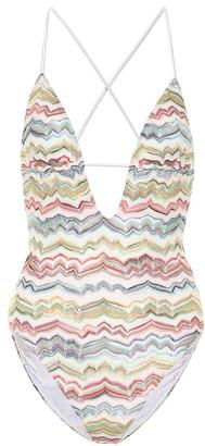 Missoni Mare Striped crochet swimsuit