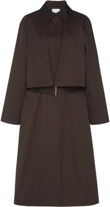 Agnona Tech Cotton Duchesse Trench Coat