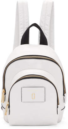 Marc Jacobs White Mini Double Backpack