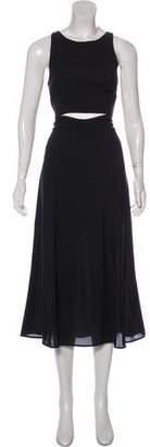 Mara Hoffman Sleeveless Midi Cutout-Accented Dress