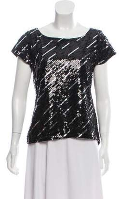 Alice + Olivia Silk Sequins Top