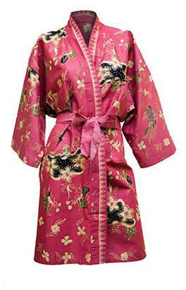 Brilliant Imports Rose Batik Kimono Robe