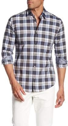 BOSS Reid Long Sleeve Plaid Print Slim Fit Woven Shirt