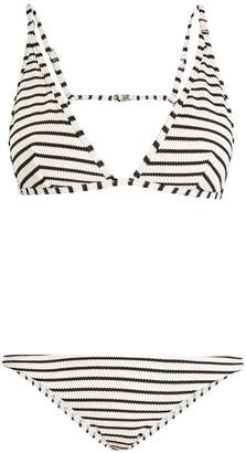 ZIMMERMANN Aerial striped triangle bikini $197 thestylecure.com