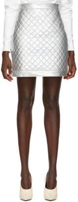 Balmain Silver Metallic Miniskirt