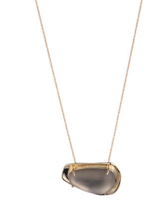 Alexis Bittar Liquid Gold Lucite Pendant Necklace