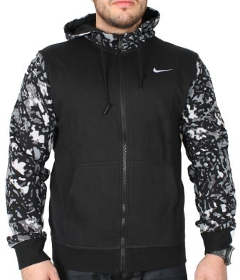 Nike Club French Terry Full-Zip Camo Men's Hoodie XXX-Large