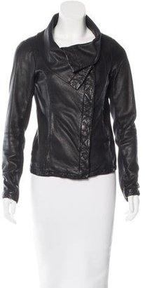 AllSaints Leather Biker Jacket $275 thestylecure.com