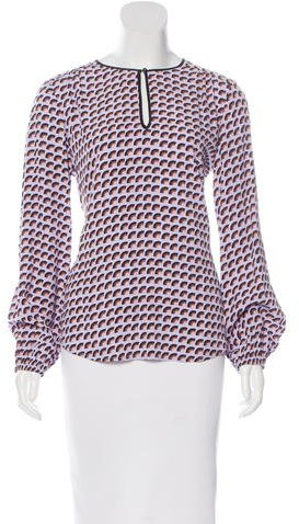 Marc JacobsMarc Jacobs Abstract Print Long Sleeve Blouse