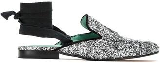 Blue Bird Shoes glitter slipper