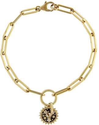 Foundrae Dark Blossom Disk On Clip Chain Bracelet